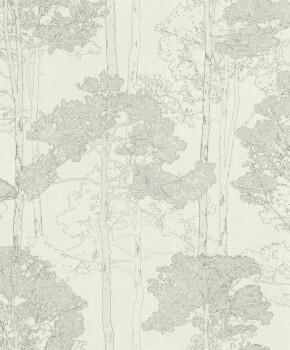 Rasch 7-410815 Hyde Park weiß Bäume Wohnzimmer Vlies-Tapete