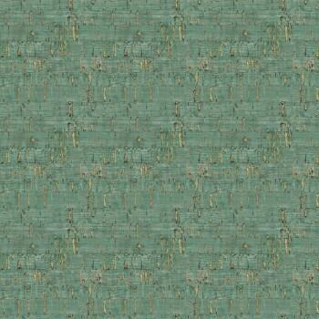 Muster-Tapete Dunkelgrün Gold Tenue de Ville SAUDADE 62-SAU210514