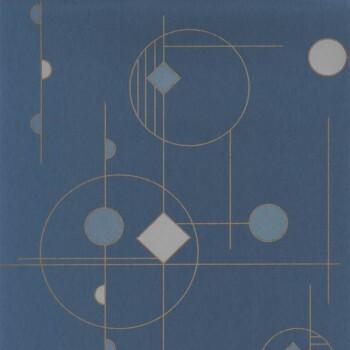 Tapete blau grafisch Casadeco - Vision 36-VISI83666424