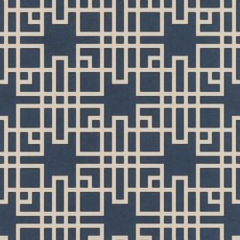 Vliestapete Blau Muster Rasch Kimono 409253