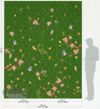 6-47085 Zuhause Wohnen 4 Marburg gras-grün Panel Natur komplett