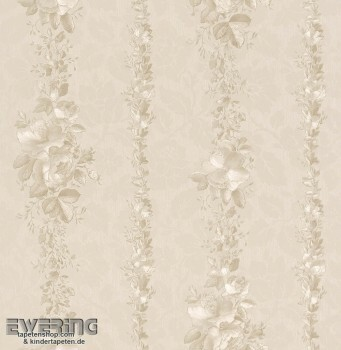 Strictly Stripes 23-362403 Vinyl-Tapete Blumenranken beige