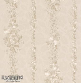 Strictly Stripes 23-362403 Vinyl-Tapete Blumenranken beige