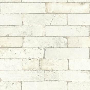 7-446319 Factory 3 Rasch weiß-grau Stein-Wand Vliestapete