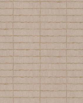 Eijffinger Siroc 55-376073 Terrakotta Weboptik Vliestapete Blockmuster