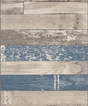 7-799620 Rasch Sightseeing Holztapete beige blau Vliestapeten