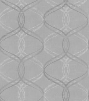 SALE 1 Rolle Vlies Tapete stein-grau geschwungene Linien