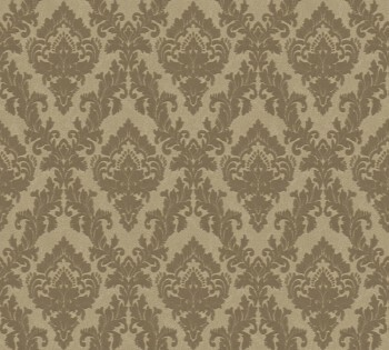 33582-4, 335824 Velour Tapete Castello AS Creation kleine Ornamente gold