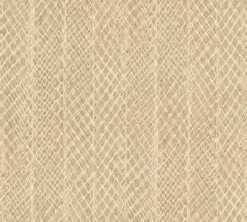 33987-5, 339875 Vliestapete Saffiano AS Creation beige Schlangenhaut Optik