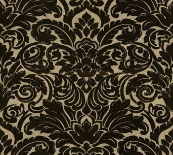 33583-4 Velourtapete Castello AS Creation gold-schwarz Verzierung Ornamente