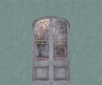 Grün-Blau Wandbild Tür Natur 62-ODED191309 Tenue de Ville ODE