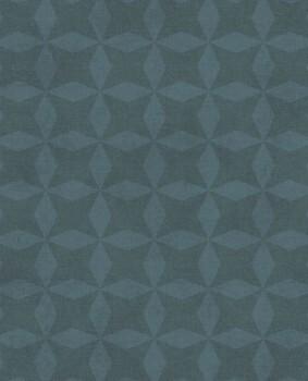 55-379023 Eijffinger Lino grafisches Muster Petrol Vliestapete