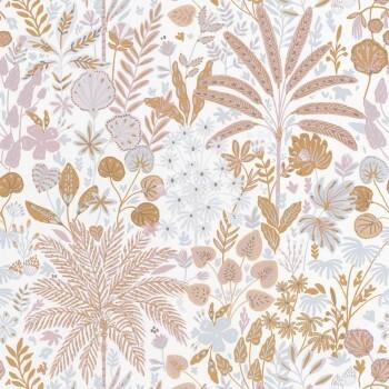 36-HYG100594811 Caselio - Hygge Palmen Blumen kupfer Tapete