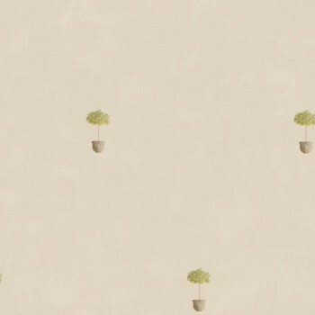 Vliestapete Caselio - Bon Appetit 36-BAP68427069 grau gelb Bäume