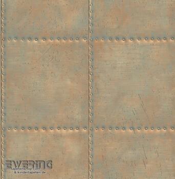 Rasch Textil Reclaimed 23-022344 Stahlplatten bronze Vliestapete