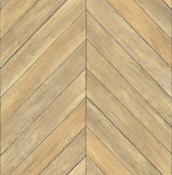 Restored 23-024004 Rasch Textil Holz beige Muster Tapete Vlies
