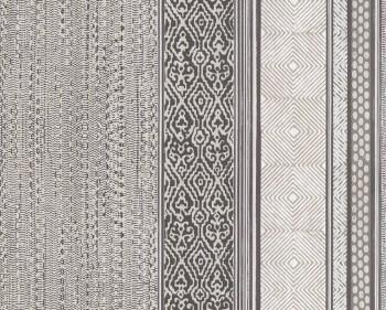 Eijffinger Siroc 55-376021 Vliestapete schwarz-weiß Streifen Muster