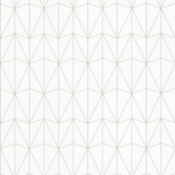 36-SRL100441066 Caselio - Scarlett Texdecor geometrisch Vliestapete gold weiß