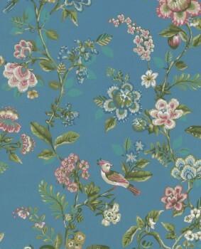 Eijffinger PIP Studio 55-375066, Vliestapete blau Blumen