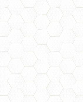 55-386580 Eijffinger Enso Vliestapete weiß gold grafisches Muster