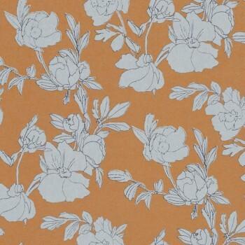 Zimt-Braun Tapete Blumen Glänzend Tenue de Ville SPICE 62-SPI230221