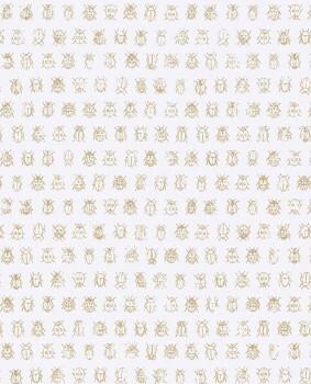 Eijffinger PIP Studio 55-375030, Vliestapete weiß gold Marienkäfer