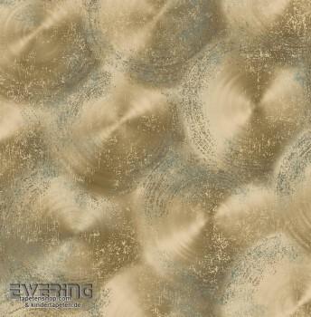 23-022339 Reclaimed Rasch Textil Vliestapete gold Glanz Kreise