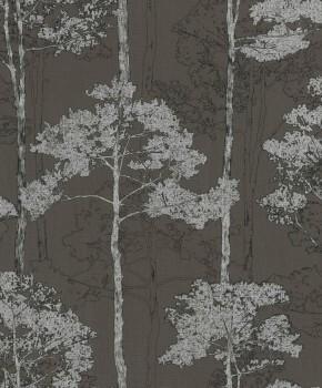Hyde Park Rasch 7-410839 Bäume Vliestapete dunkel-braun silber