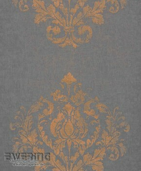 Texdecor Casadeco - Majestic 36-MAJ26419312 schwarzbraun Ornament