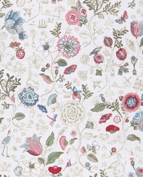 Eijffinger PIP Studio 55-375000, Vliestapete creme, rose Blumen