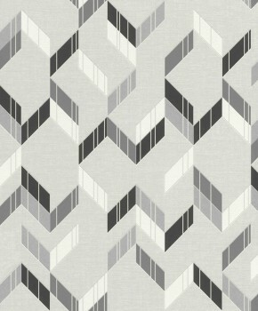 Muster-Tapete Grau Glitzer Wohnzimmer