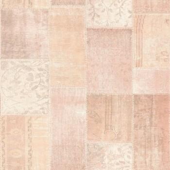 Boho Chic Rasch Textil 23-148651 Tapete aprikot Muster kariert