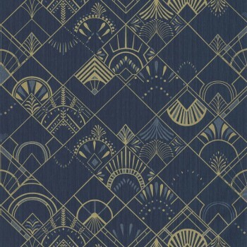 Texdecor Caselio - Scarlett 36-SRL100456023 Vliestapete Vinyl Muster blau gold