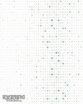 6-57239 Nena Marburg Punkte Retro weiß silber blau Vliesträger