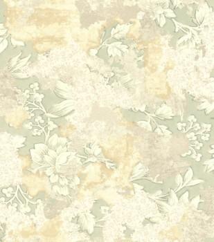 Ylvie 7-802542 Rasch Putzoptik Putz Vliestapete Blumenmuster grün