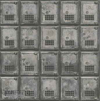 Rasch Textil Reclaimed 23-022355 grau Schließfächer Vliestapete