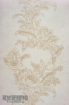 36-INF24851112 Casadeco Infinity Blumen creme-weiß Vliestapete
