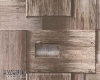 AS Creation Authentic Walls 8-30414-1, 304141 Holzoptik braun Tapete