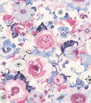 Lucy in the Sky 7-803518 Rasch pink-lila Blumen Vliestapete