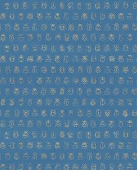 Eijffinger PIP Studio 55-375036, Vliestapete blau Marienkäfer gold