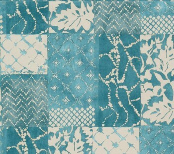Tapete Patchwork-Muster türkise Vliestapete 29-88504_L Limonta Luna