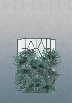 Wandbild Blau Fenster Pflanzen Tenue de Ville ODE 62-ODED191713