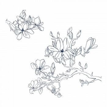 Wandbild Bontanische Zeichnungen