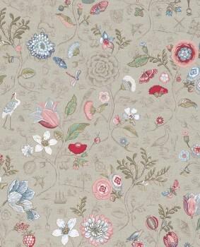 Eijffinger PIP Studio 55-375001, Vliestapete creme bunt Blumen