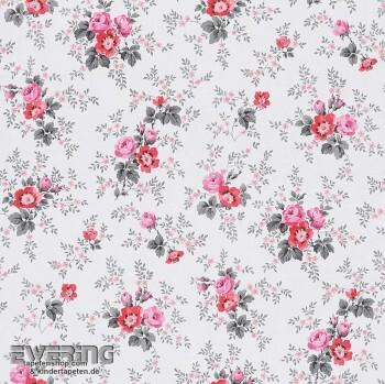 SALE Aktion 2er Set 23-285054 Petite Fleur 3 Rasch Textil creme-weiß Blüten Papier