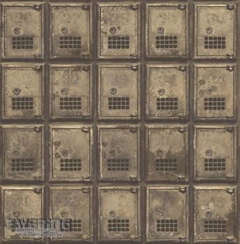 23-022354 Reclaimed Rasch Textil Schließfächer Vliestapete braun