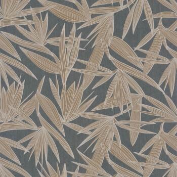 Tapete Palmenblätter grau beige Casamance - Portfolio 48-73960344