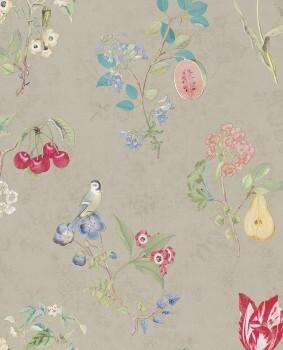 Eijffinger PIP Studio 55-375021, Vliestapete taupe Blumen