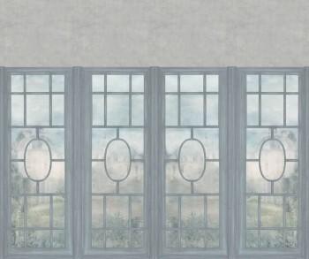 Blau Beige Wandbild Fensterfront 62-ODED190515 Tenue de Ville ODE
