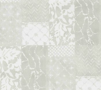 Tapete hellbeiges Patchwork-Muster Vlies 29-88506_L Limonta Luna